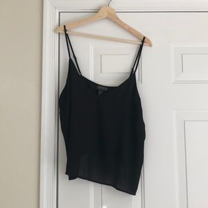 Black crop top camisole